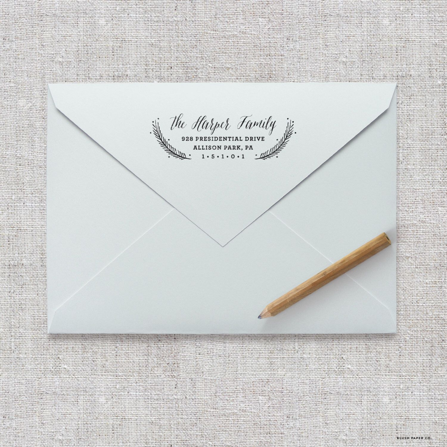 Beau Self Inking Return Address Stamp / Wedding Invitation Stamp, Save The Date  Stamp, Thank