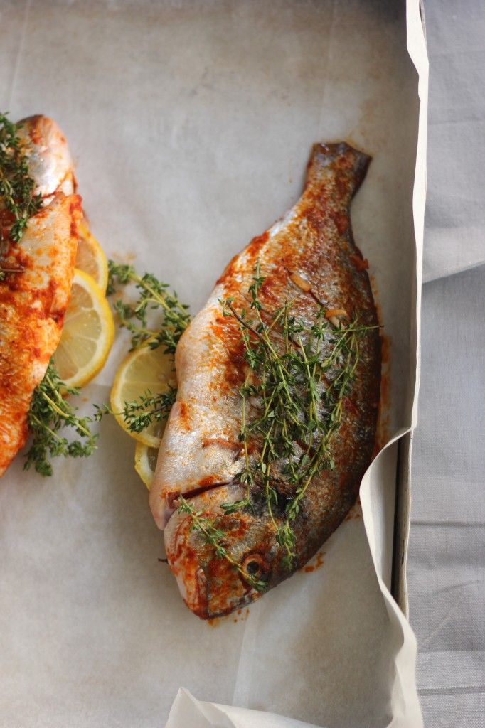 Food photography sea bream baked in the oven dennis fish for Whole foods fish oil