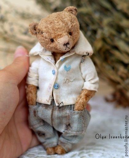 Мишки Тедди ручной работы. Ярмарка Мастеров - ручная работа Vintage plush bear (13 cm). Handmade.