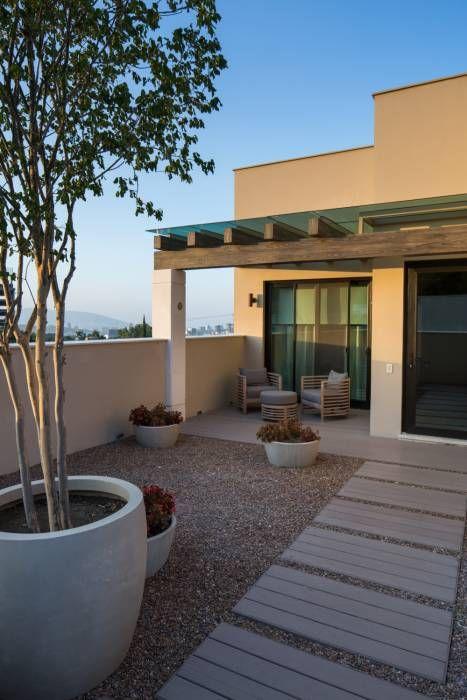 Terraza terrazas de estilo por rousseau arquitectos Diseño de