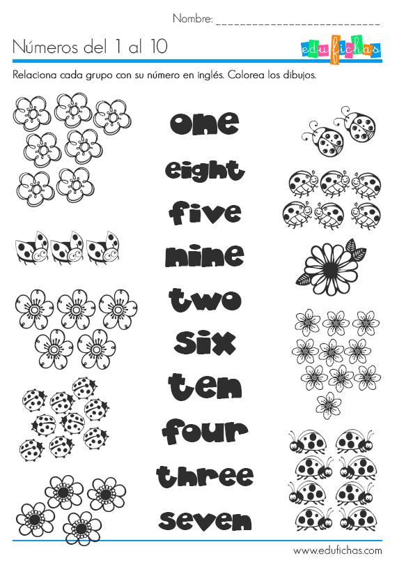 Los nmeros en ingls learn numbers httpwwwedufichascom