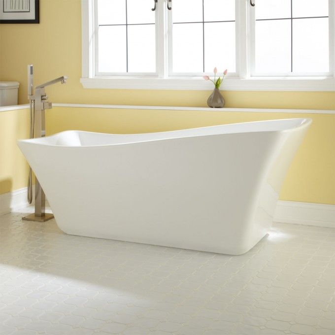 68 Amick Acrylic Freestanding Slipper Tub Freestanding Tubs