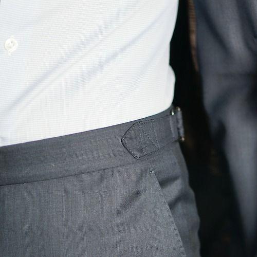 Side Adjusters Instead Of Belt Loops Pants Mens Suits