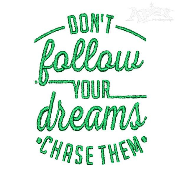 Download Dont Follow Pack Embroidery Design | Word Art Embroidery ...
