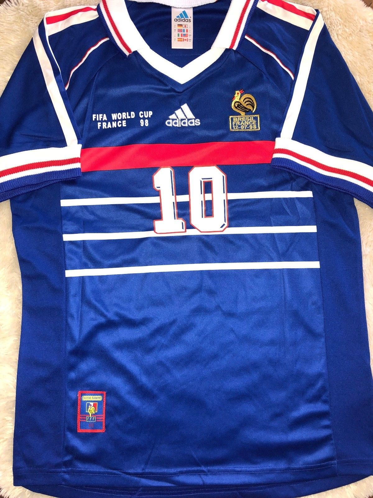253d4f64d78 FRANCE ZIDANE 1998 WORLD CUP RETRO JERSEY  COLLECTION SALE