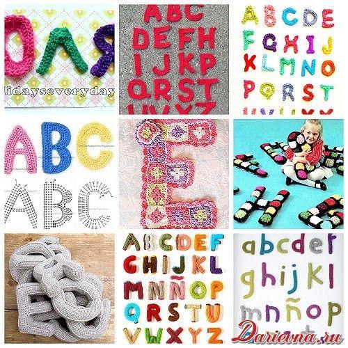 Схема вязания буквы а 68