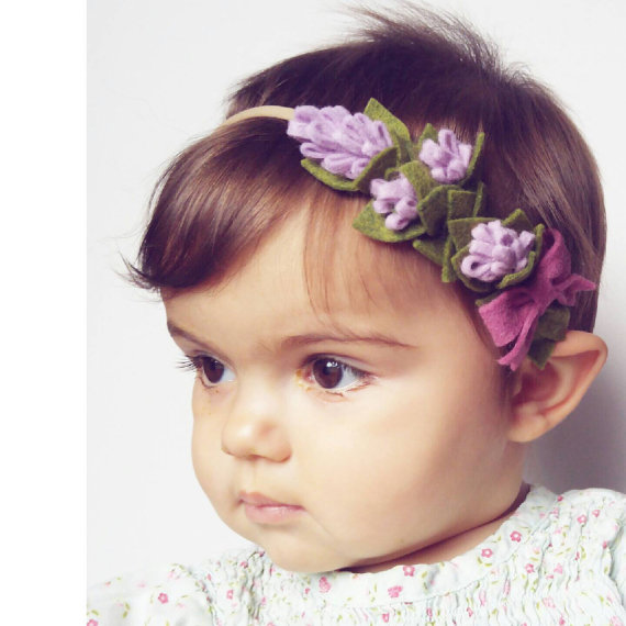 Gorgeous Lavender Half Crown wool felt flower by TheFloweredFawn #feltflowerheadbands