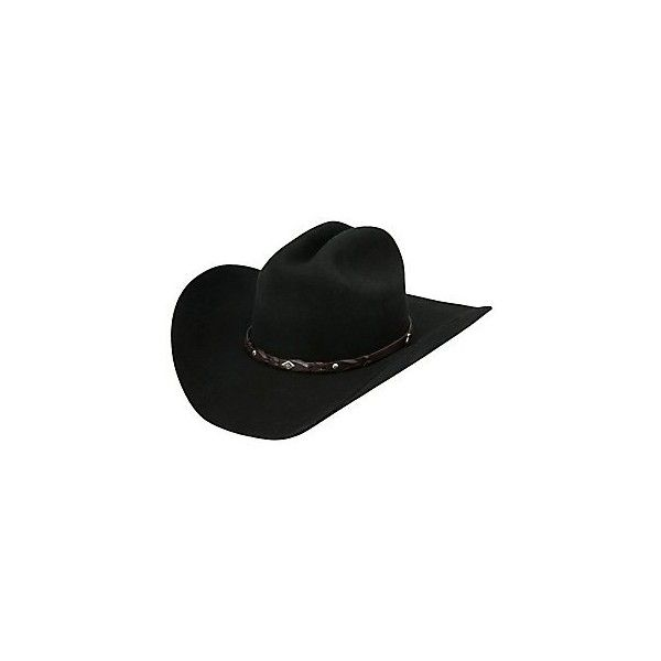 f3f3672e3a2661 Justin 2X Lonestar Black Felt Cowboy Hat ($50) ❤ liked on Polyvore  featuring accessories, hats, cowgirl hats, western hats, felt cowgirl hats, cowboy  hat ...