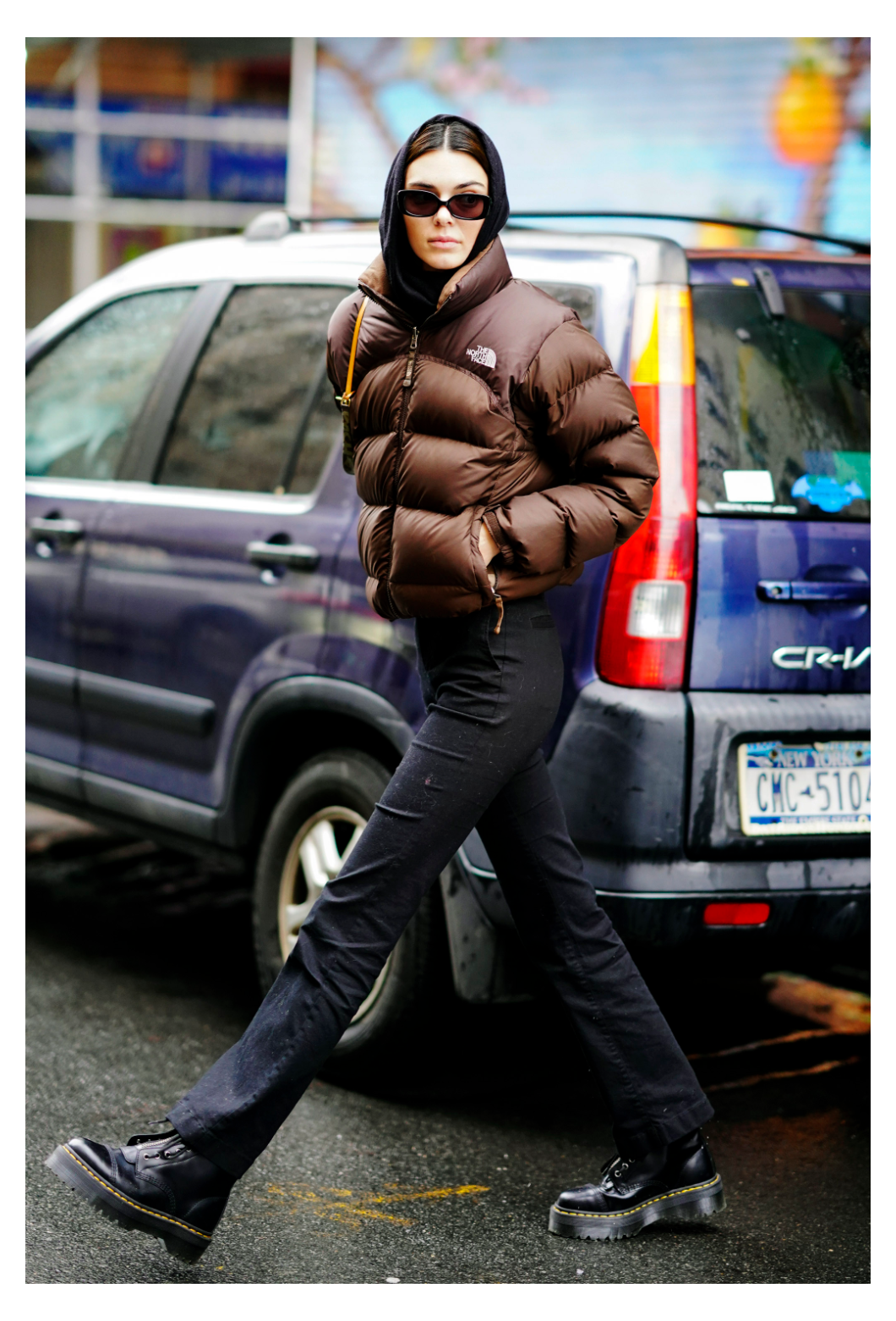 Kendall Jenner Wears Dr Martens Boots While Shopping In Nyc North Face Jacket Fuz North Face Jacket Outfit Kendall Jenner Outfits North Face Puffer Jacket [ 1562 x 1060 Pixel ]
