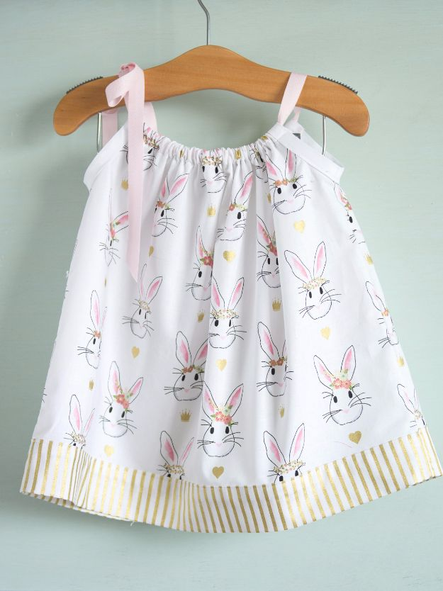 51 Things to Sew for Baby - Pillowcase Dress Tutorial - Cool Gifts For Baby, Easy Things To Sew And Sell, Quick Things To Sew For Baby, Easy Baby Sewing Projects For Beginners, Baby Items To Sew And Sell http://diyjoy.com/sewing-projects-for-baby
