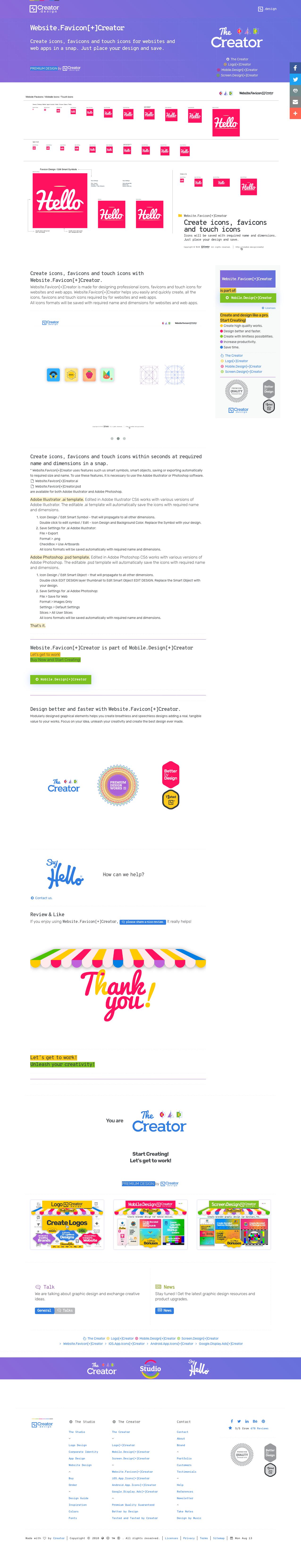 Website.Favicon[+]Creator Create icons, favicons and
