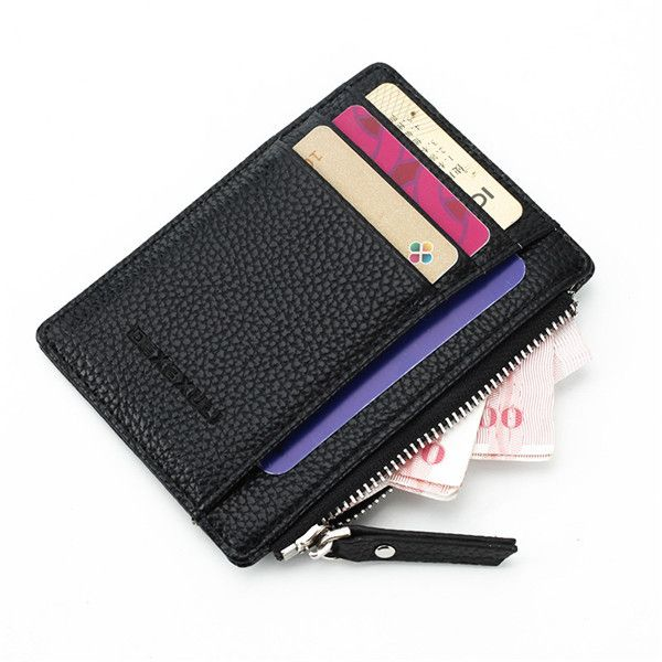 a91d050ef09 Slim Super Thin Business Card Holder Zipper Credit Card Case Coin Bags  Portable Purse Worldwide delivery. Original best quality product for 70% of  it s real ...