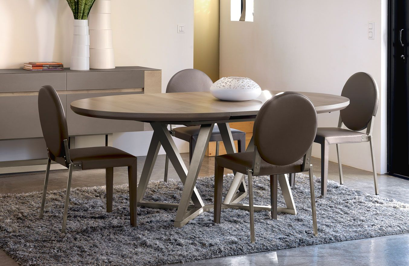Table ovale collection setis fabricant de meubles gautier table salle a m - Grande table ovale salle a manger ...
