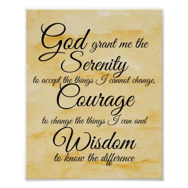 serenity prayer poster zazzle com in