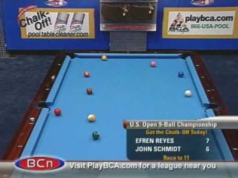 Billiards US Open Ball Championship Efren Reyes V Schmidt Http - Us billiards pool table