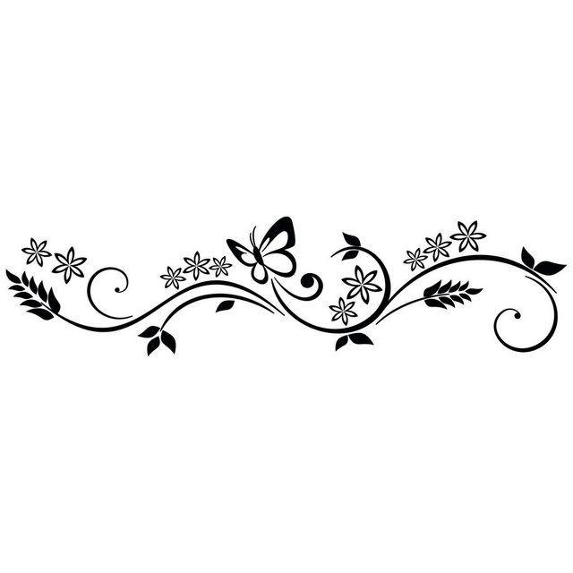 Wandtattoo »Ranke Schmetterling« #fliesenstreichen