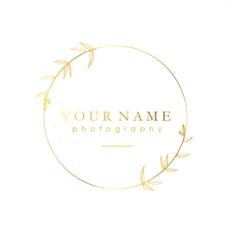 Premade Gold Foil Logo