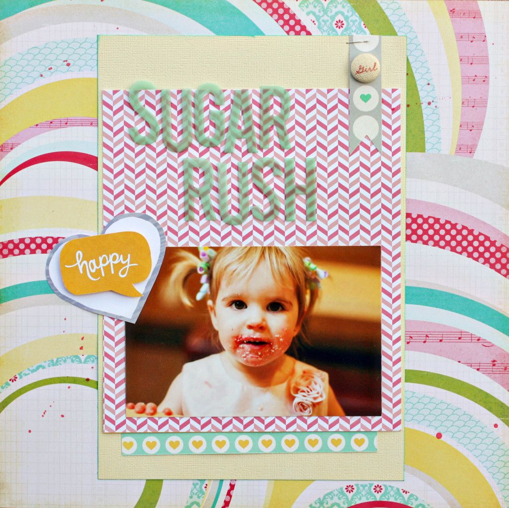 Holly\'s layout using @scrapbookcircle Happy Place kit #scrapbook ...