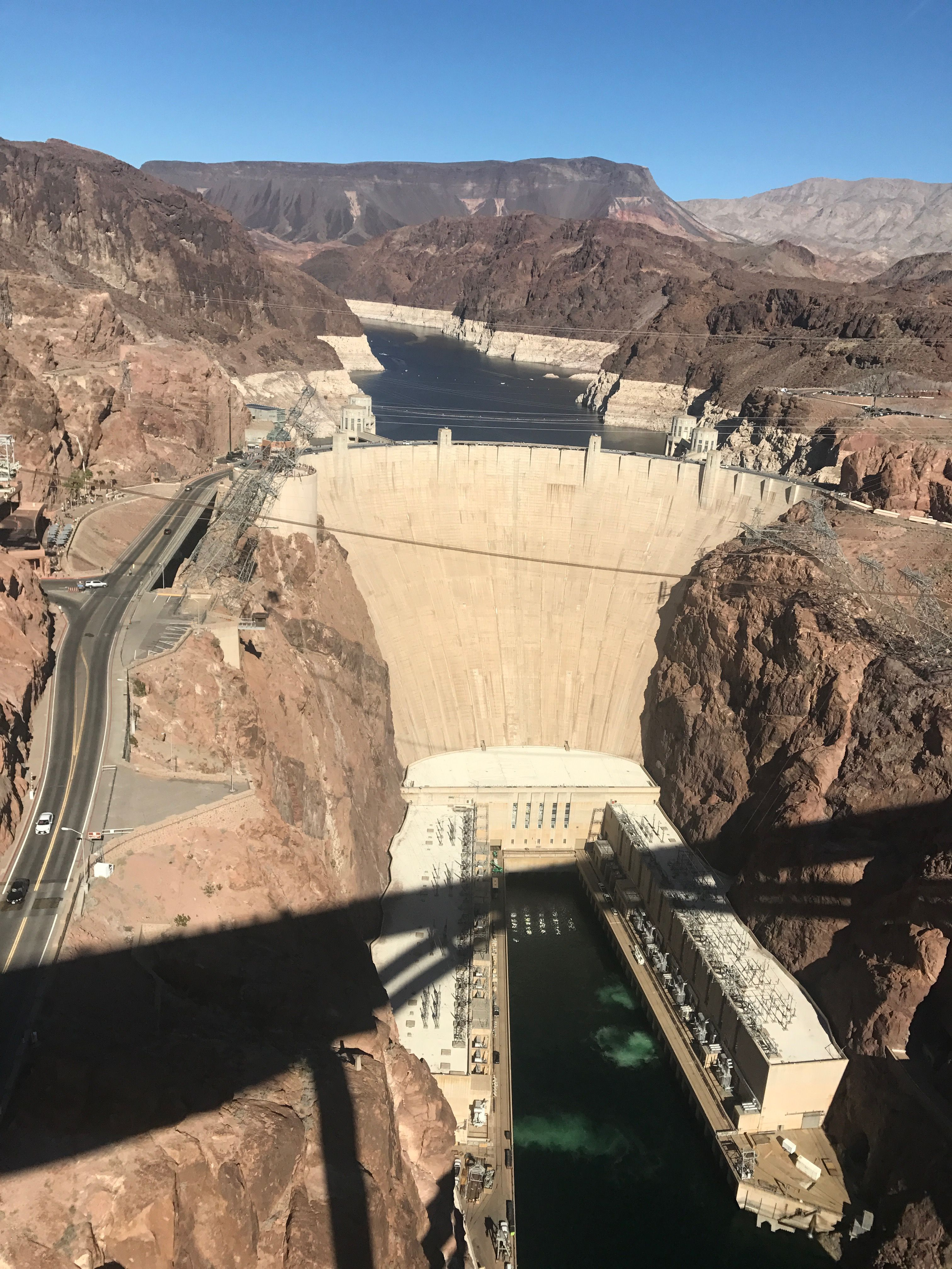 October 21,2017 Hoover Dam is a concrete arch-gravity dam in
