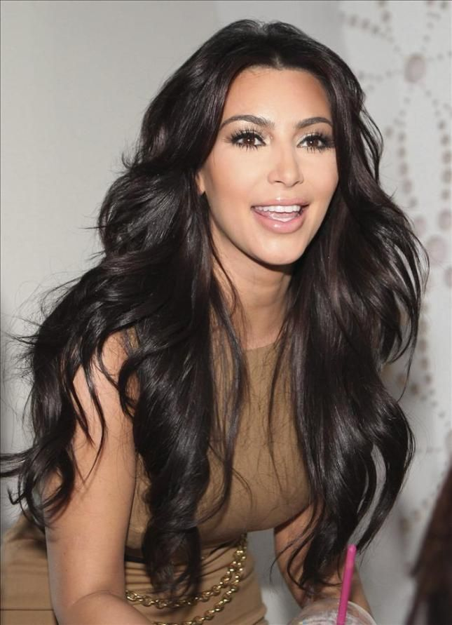 Kim Kardashian Hair Pinterest Kardashian Straight Hair And