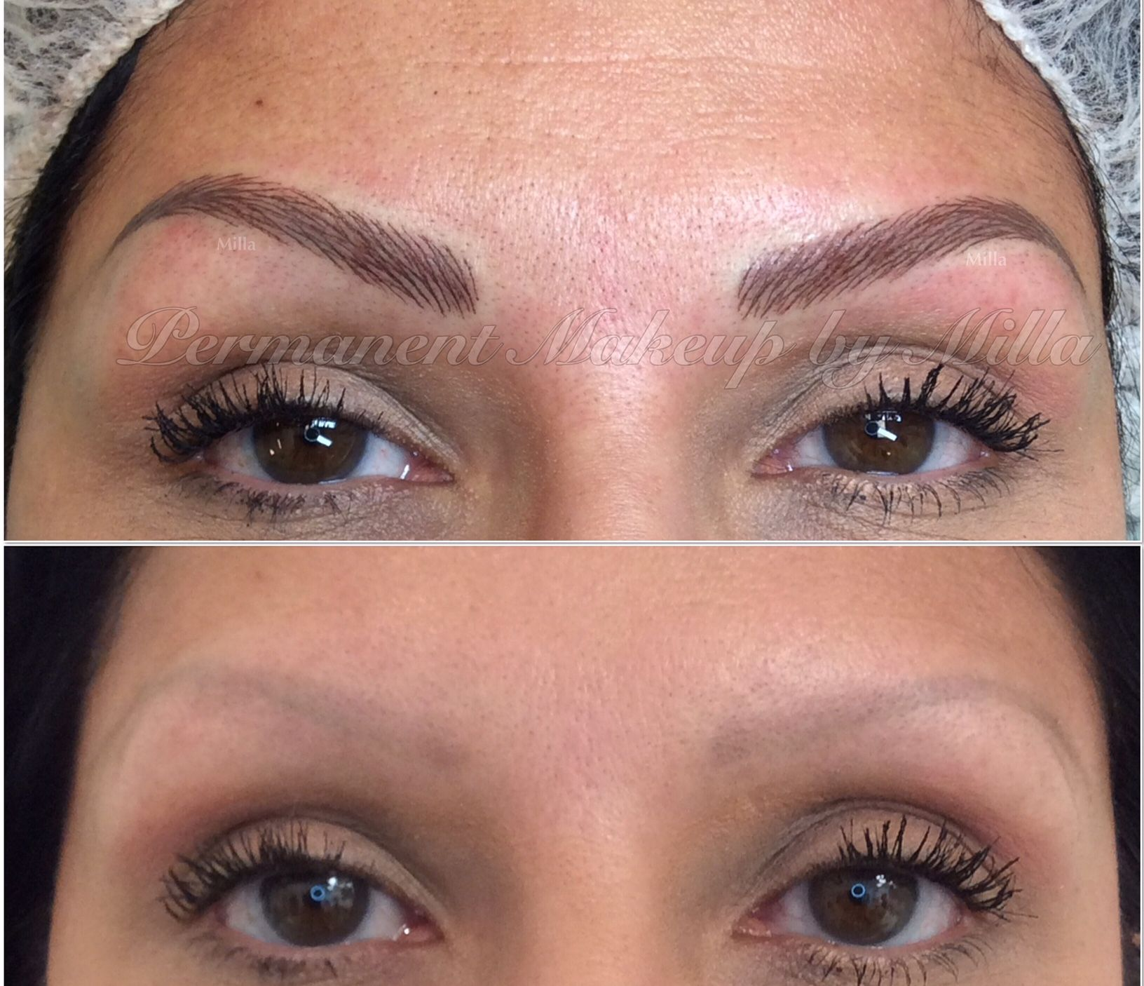 Permanent Makeup eyebrows with 3D hair strokes technique ...