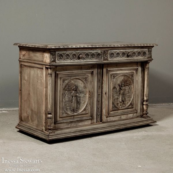 Your source for French and European Antique Furniture and Accessories. Shop  online or visit us in Dallas, TX or Baton Rouge, LA. - Antique Rustic Furniture Antique French Rustic Buffet From