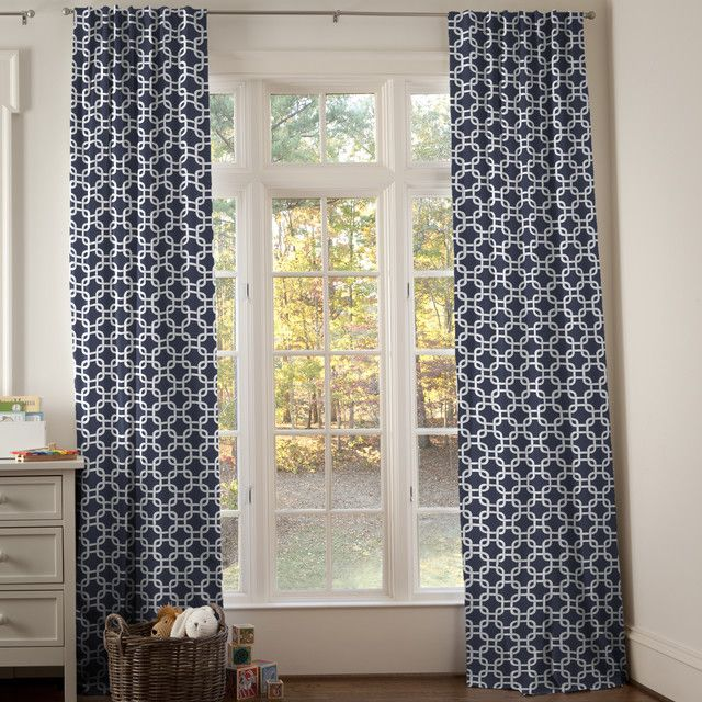 Image Gallery Navy Curtains