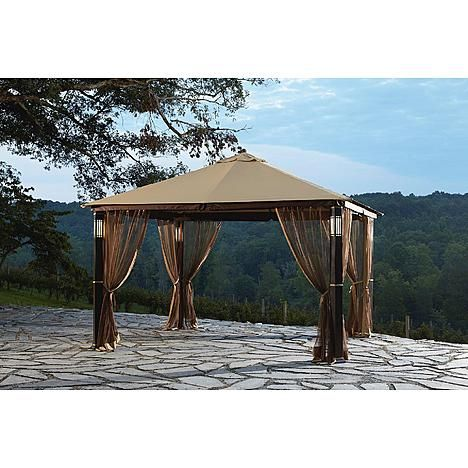 Gazebo With Builtin Lights And Audio Speakers Gazebo Outdoor Outdoor Living