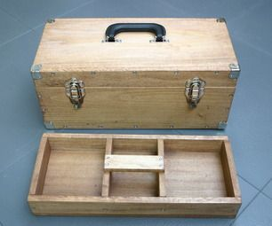Functional And Sturdy Wooden Toolbox Tool Box Diy Wooden