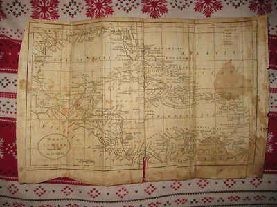 Rare Antique 1795 West Indies Copperplate Map Florida Cuba