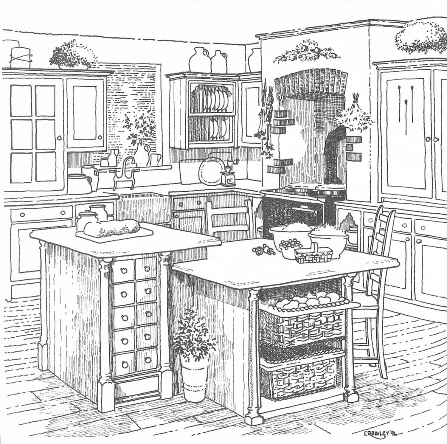 kitchen design sketch kitchen sketch shadows and highlights really make a 583