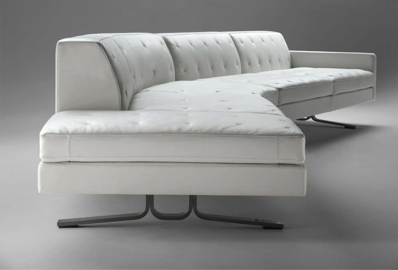 Modular sofa / contemporary / leather / by Jean-Marie Massaud ...
