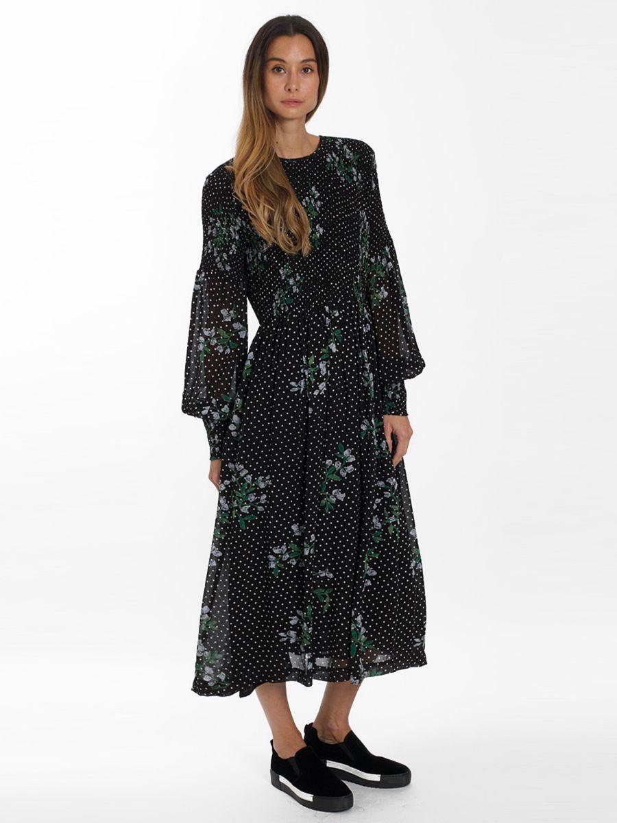 bc6f4aac2eef Ganni, Rometty Georgette Smock Dress | Autumn 2018 | Smock dress ...