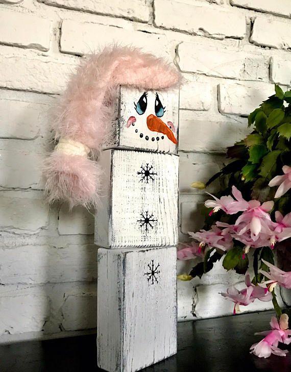 SALE - STACKABLE SNOWMAN - Snowman Decor - Hand Painted Snowman - christmas decorations sale