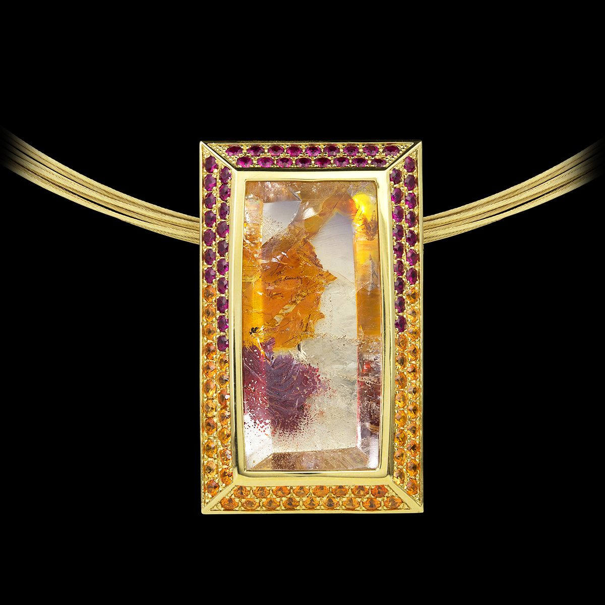 Tropical garden pendant tropical garden pendants and gold