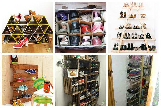 donneinpink magazine: scarpiere fai da te con materiali riciclati