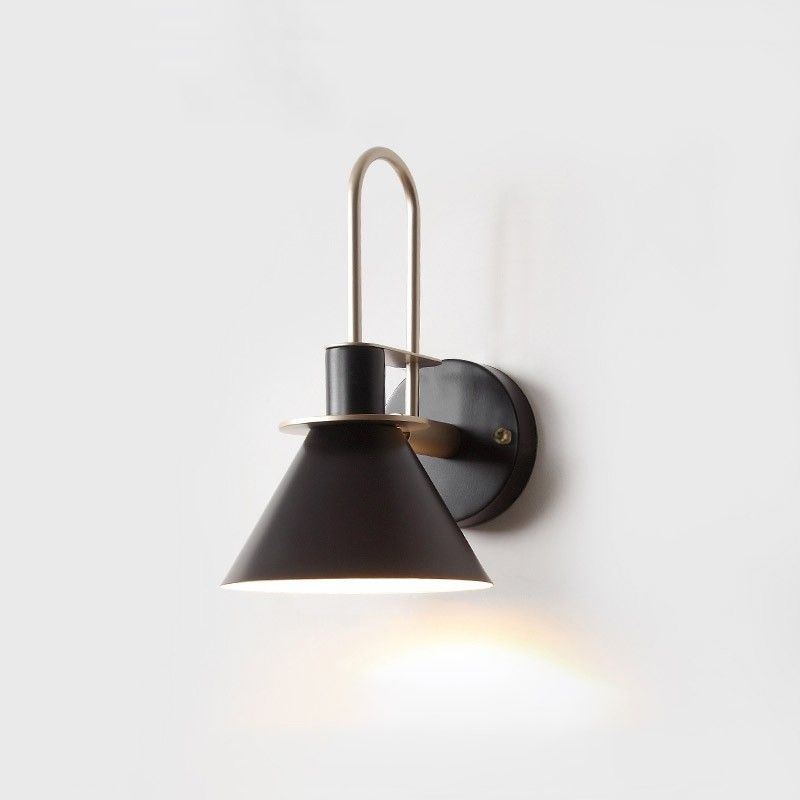 Modern 1 Light Cone Indoor Wall Sconce Metal Tapered Shade Wall Light In Black White Green Pink In 2020 Scandinavian Wall Lighting Indoor Wall Sconces Scandinavian Wall Sconces