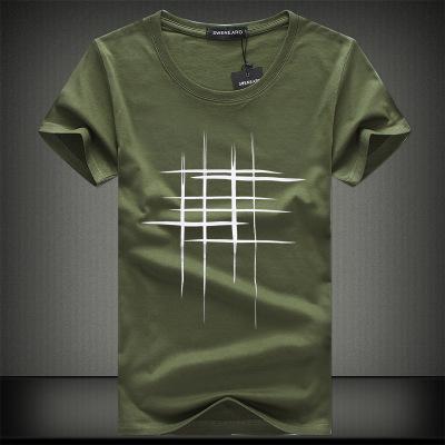 04d1e584c8bd Buy Simple Creative Design Line Cross Print Cotton T Shirts Men's Arrival  Summer Style Short Sleeve Men T-Shirt: Shop top fashion brands T-Shirts at  ...