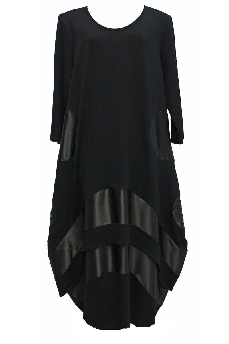 lange zwarte tricot jurk