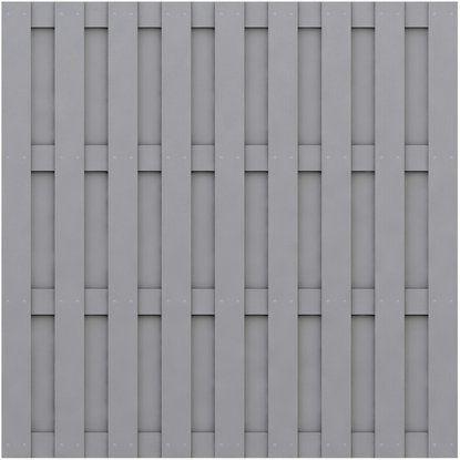 Sichtschutzzaun Element Jumbo WPC Grau 179 cm x 179 cm
