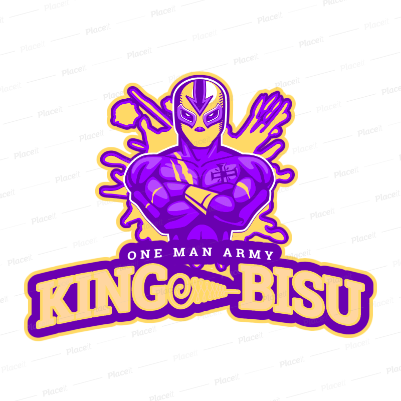 Pin By Mohantykamal On Bisu One Man Army Logo Maker Sport Team Logos Mockup Generator