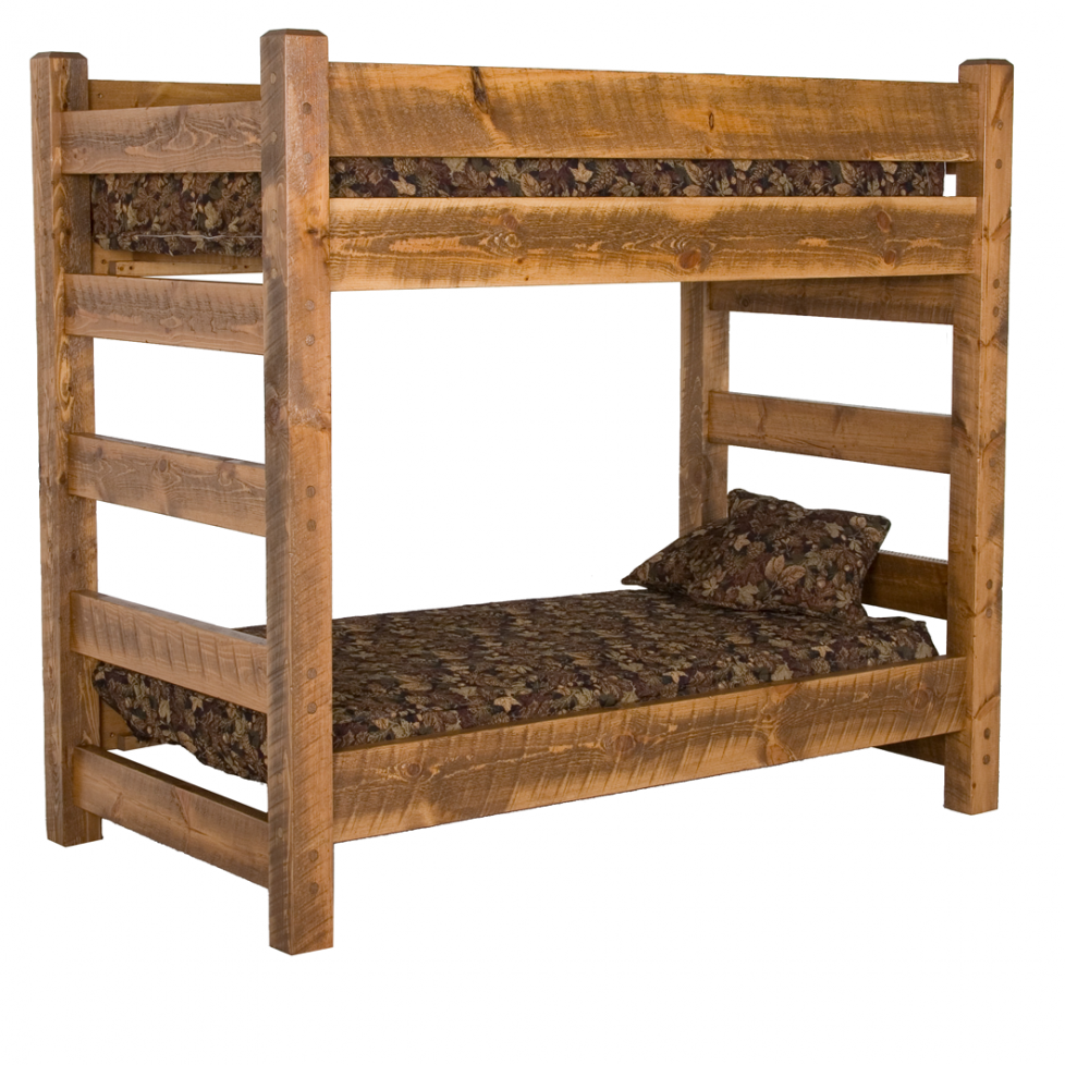 wood bunk bed - T2w