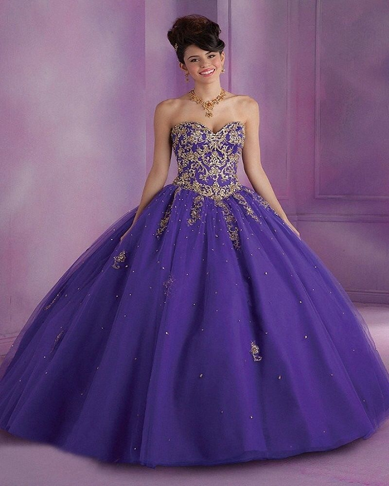 dress sweet 16 purple and gold size 14 #VizcayaCollection ...