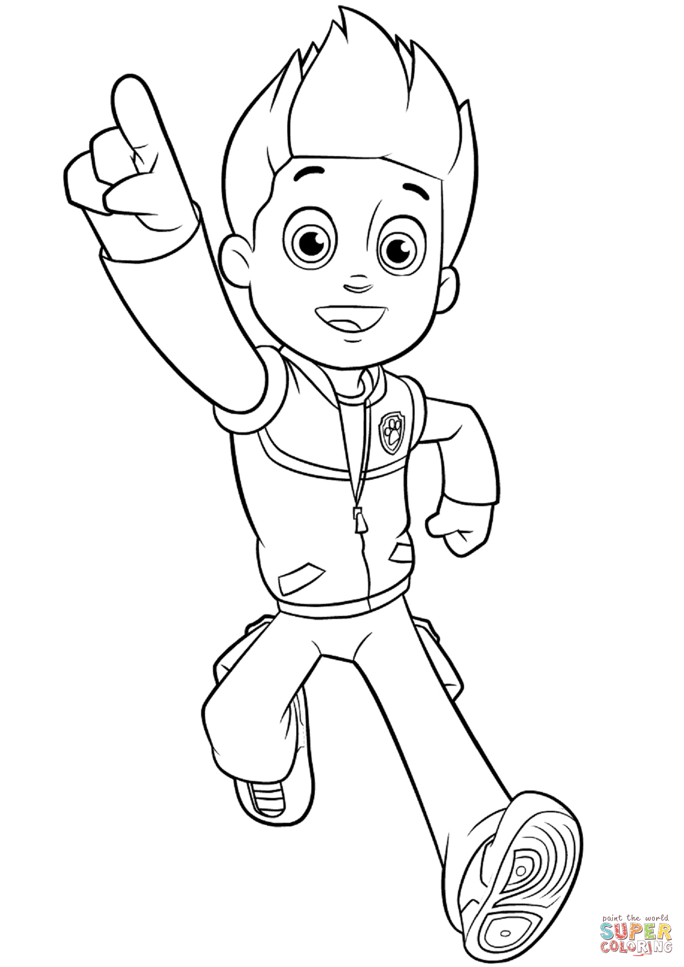 Paw Patrol Ryder Super Coloring In 2020 Paw Patrol Coloring