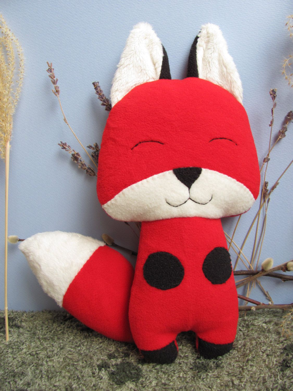 Red Fox Kitsune Plush Stuffed Animal Toy Ecofriendly by