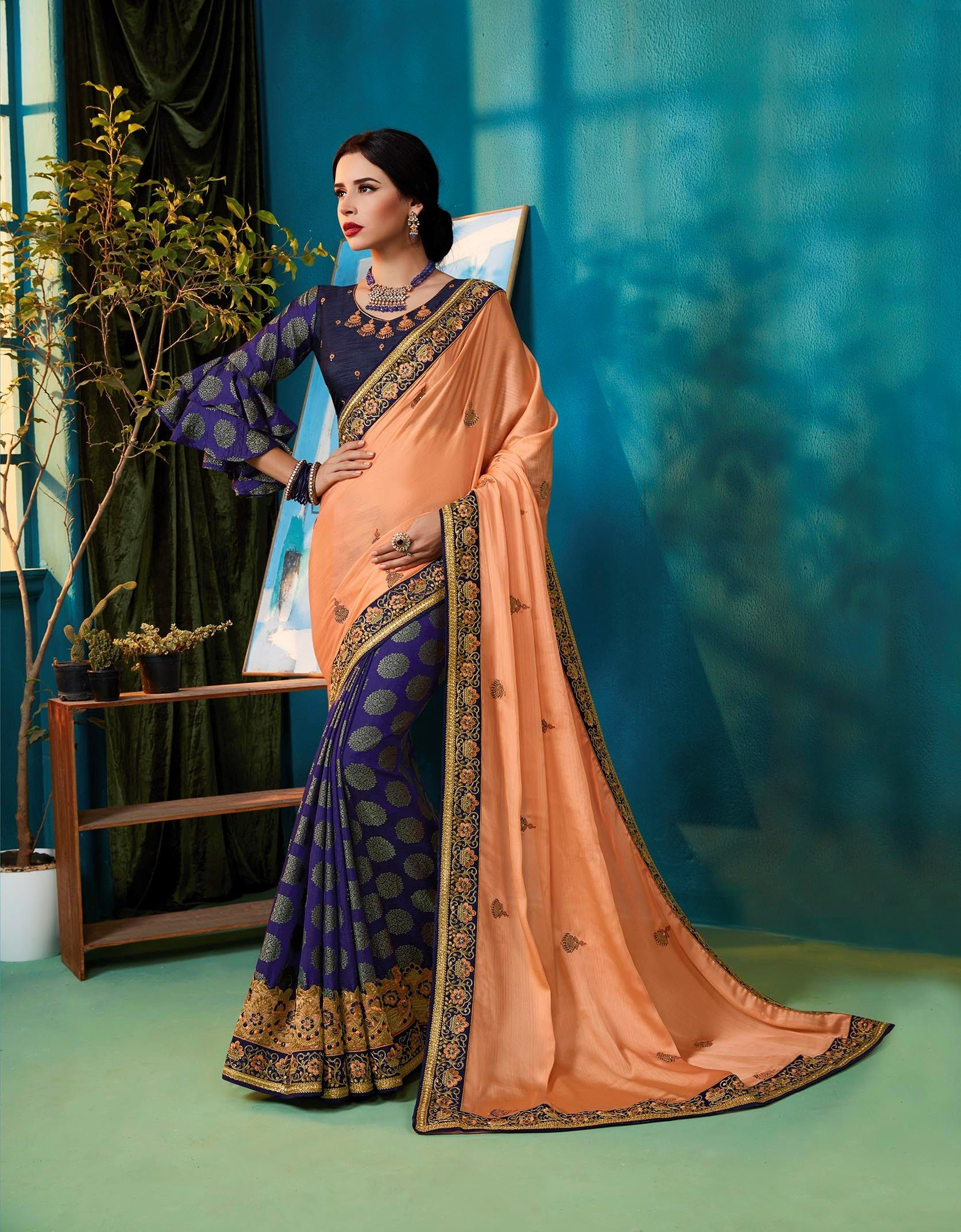 Party Wear Indian Wedding Designer Saree 9303 Designer