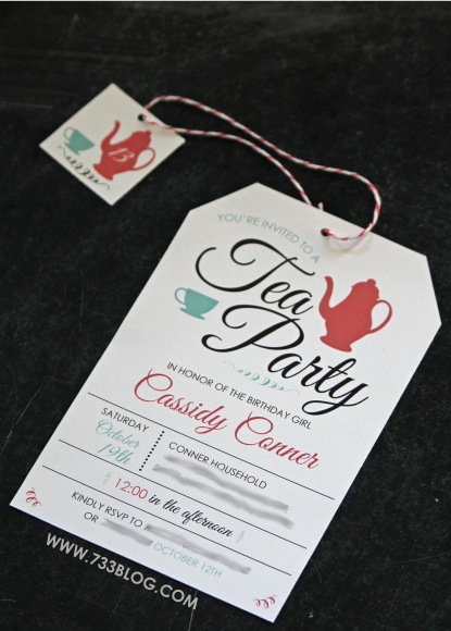 Free Printable Tea Party Birthday Invite Party Ideas For Girls