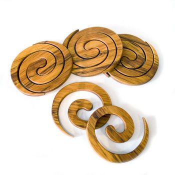 projects design unique coasters. New Zealand Rimu Spiral Coasters  puzzle wood Pinterest