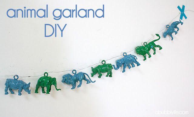 A Bubbly Life: DIY Plastic Animal Garland