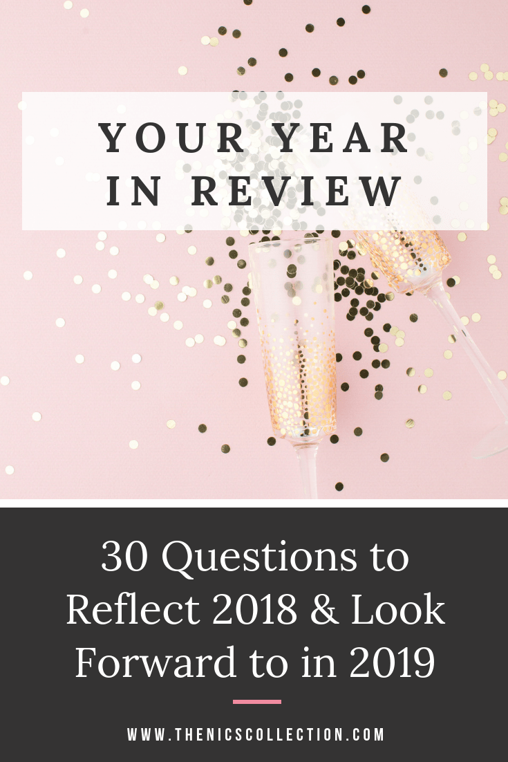 Your Year In Review 30 Questions to Reflect 2018 & Look